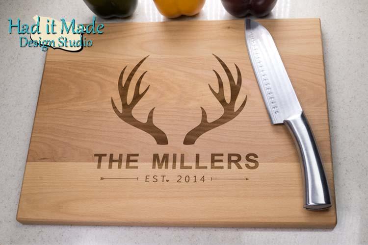 Deer Antlers Cutting Board Antlers1