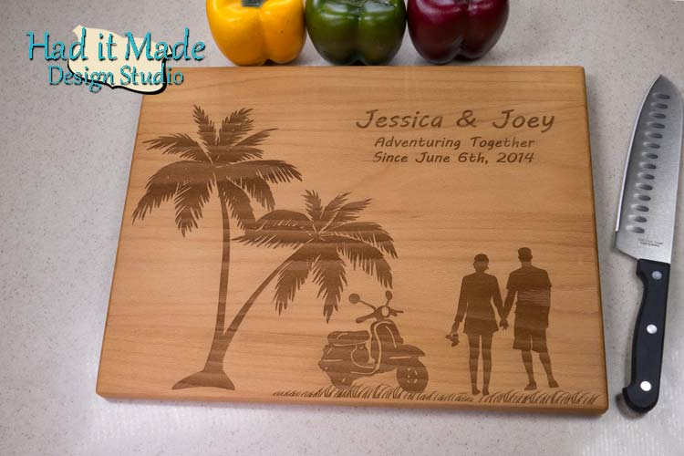 Vacation Scene Cutting Board V1