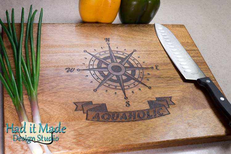 Nautical Compass Cutting Board N3