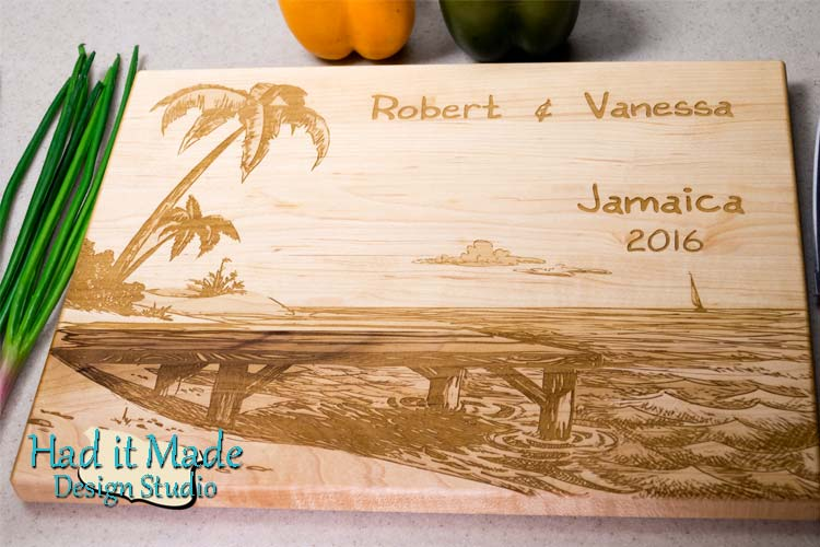 Beach Scene Cutting Board B2