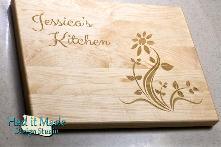 Simple Flower Cutting Board F15