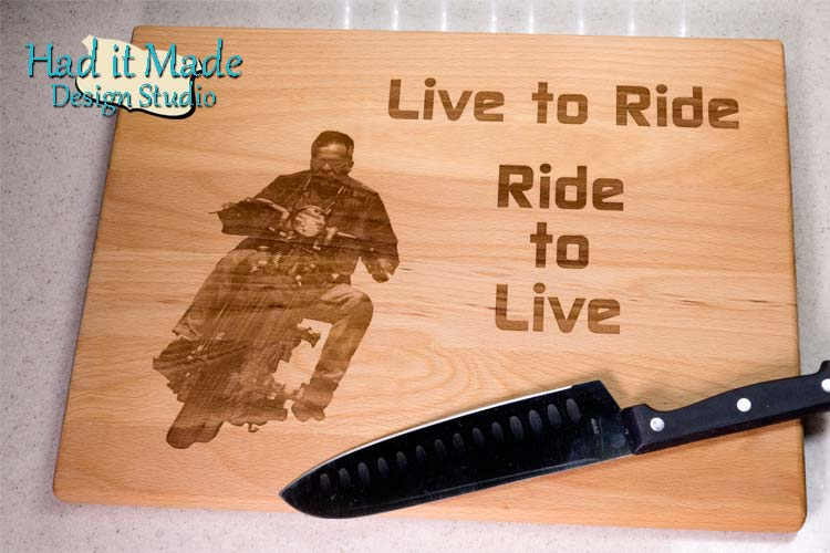 Live to Ride Cutting Board MC1