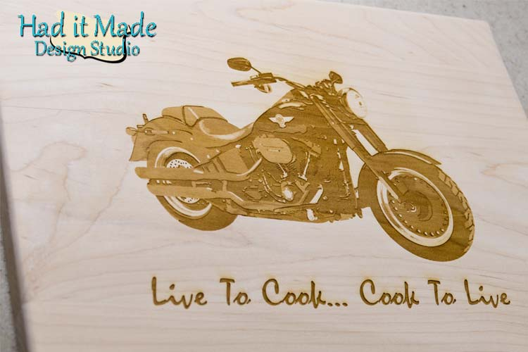 Live to Cook Cutting Board MC2