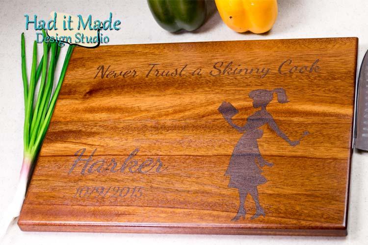 Never Trust a Skinny Cook Cutting Board SKINNY1