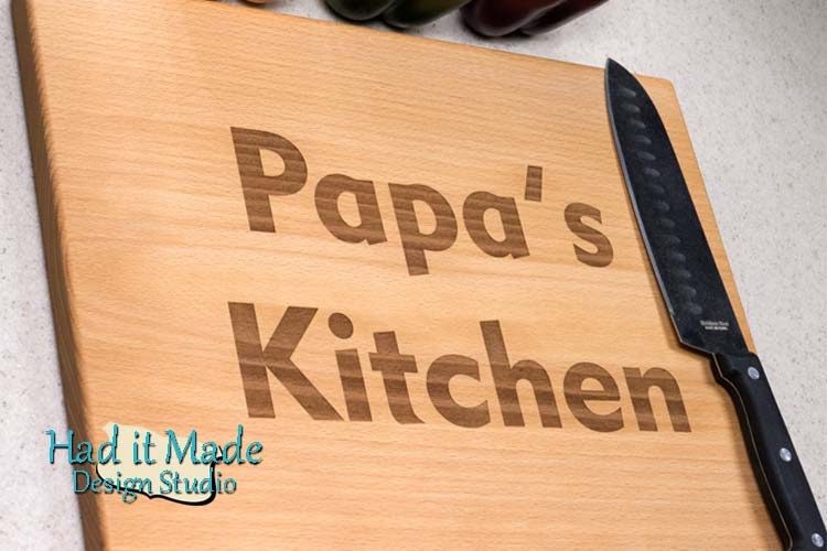 Papa's Kitchen Cutting Board P1