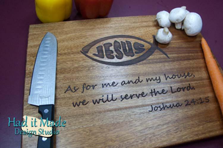 Jesus Fish Scripture Cutting Board Jesus1
