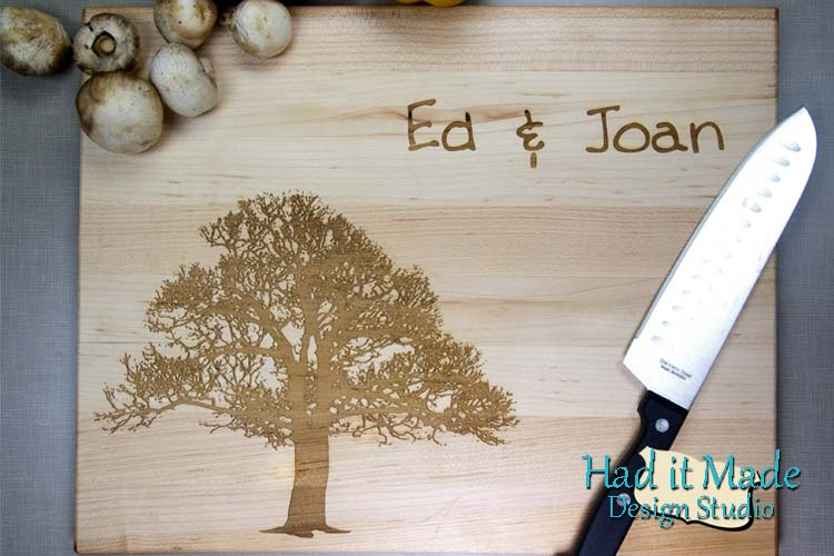 Tree Design Cutting Board TREE1