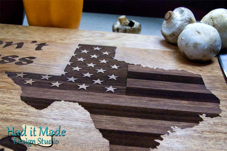 Don't Mess with Texas Cutting Board Texas1