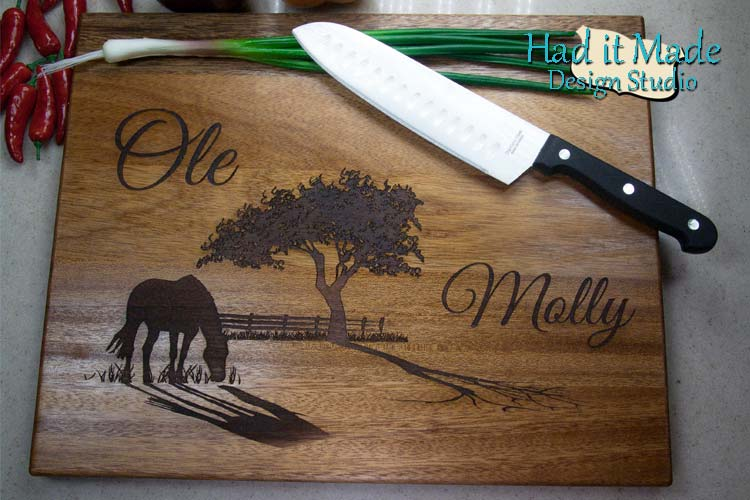 Western Scene Cutting Board W1