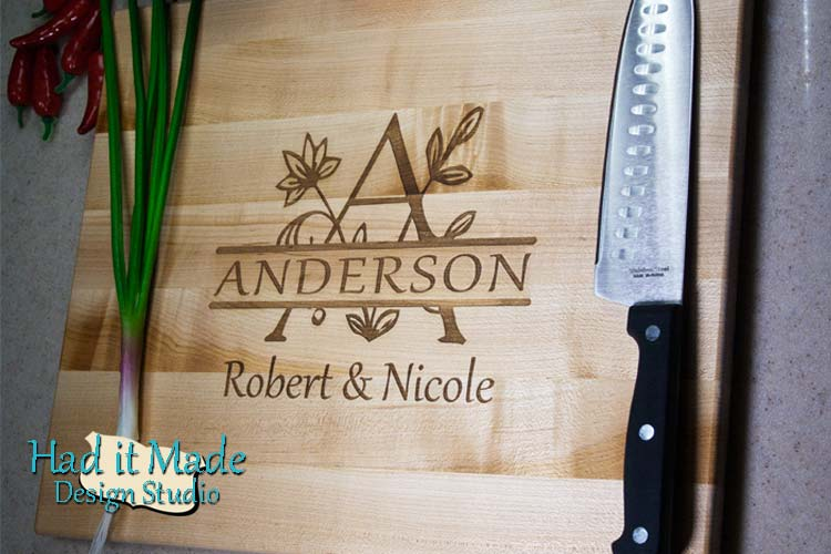 Monogram Cutting Board M6