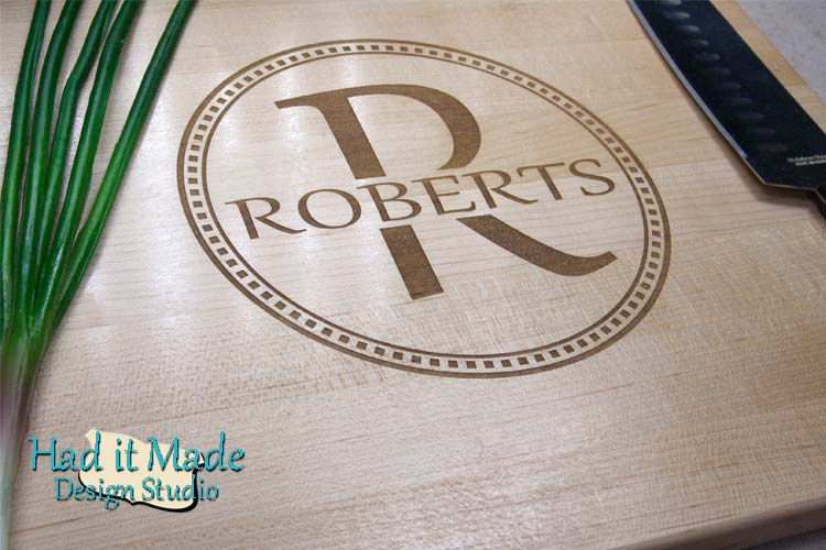 Monogram Cutting Board M7