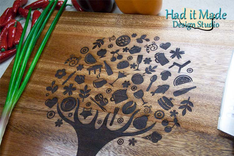 Food Tree Design Cutting Board TREE12