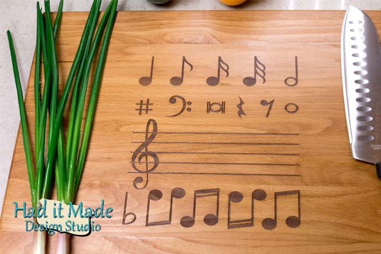 Music Note Cutting Board MN1