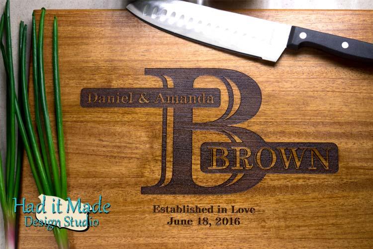 Monogram Cutting Board M13