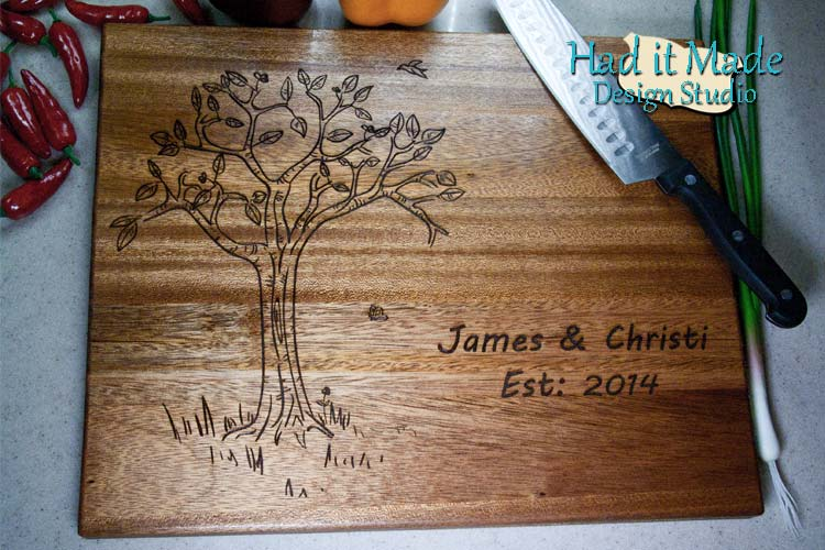 Tree Design Cutting Board TREE11
