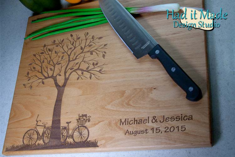 Tree and Bicycle Cutting Board T5