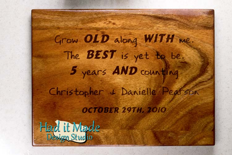 Grow Old With Me Cutting Board G1