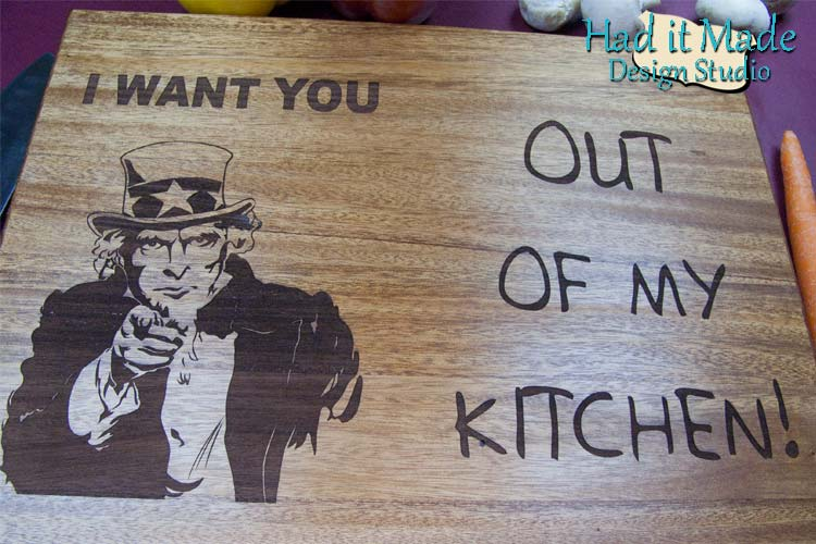 Uncle Sam I Want You Cutting Board - IWANTYOU