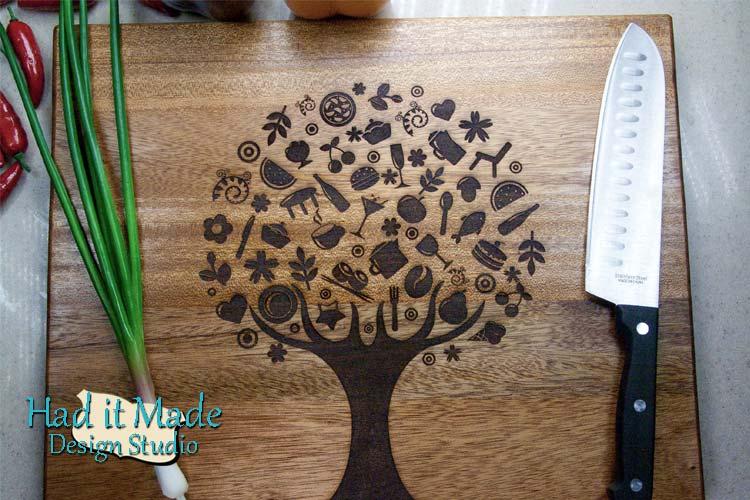 Food Tree Design Cutting Board TREE12