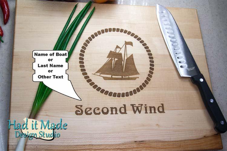 Sailboat - Nautical Cutting Board N2