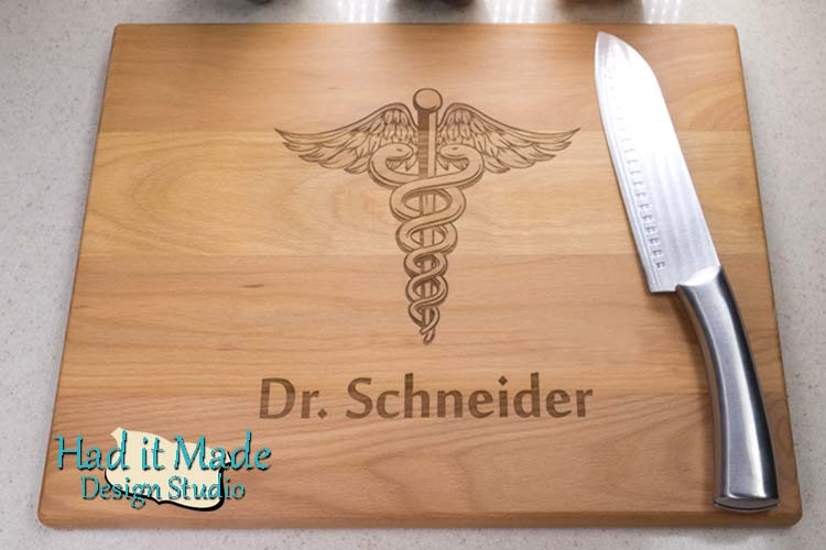 Caduceus Cutting Board DR1